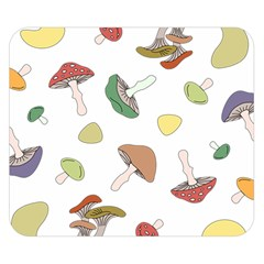 Mushrooms Pattern 02 Double Sided Flano Blanket (small)