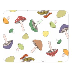 Mushrooms Pattern 02 Double Sided Flano Blanket (Large)