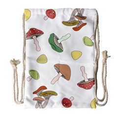 Mushrooms Pattern 02 Drawstring Bag (Large)