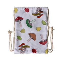 Mushrooms Pattern 02 Drawstring Bag (small)