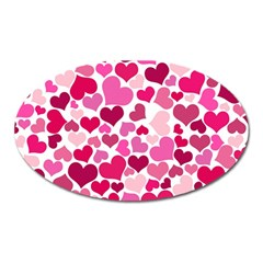 Heart 2014 0933 Oval Magnet