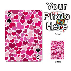 Heart 2014 0933 Playing Cards 54 Designs