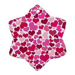 Heart 2014 0933 Snowflake Ornament (2-Side)