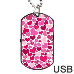 Heart 2014 0933 Dog Tag USB Flash (One Side)