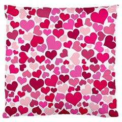Heart 2014 0933 Large Flano Cushion Cases (one Side)