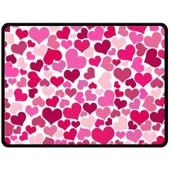Heart 2014 0933 Double Sided Fleece Blanket (Large)