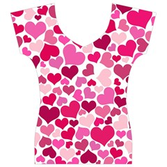 Heart 2014 0933 Women s V-Neck Cap Sleeve Top