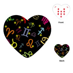 All Floating Zodiac Signs Playing Cards (Heart)