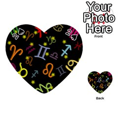 All Floating Zodiac Signs Playing Cards 54 (Heart)