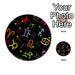 All Floating Zodiac Signs Multi-purpose Cards (Round)