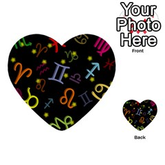 All Floating Zodiac Signs Multi-purpose Cards (Heart)