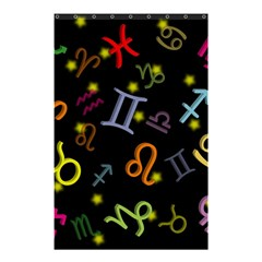 All Floating Zodiac Signs Shower Curtain 48  x 72  (Small)