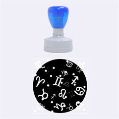 All Floating Zodiac Signs Rubber Round Stamps (Medium)