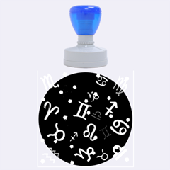 All Floating Zodiac Signs Rubber Round Stamps (Large)