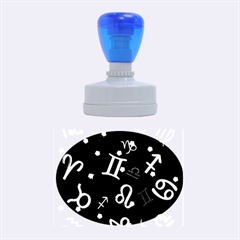 All Floating Zodiac Signs Rubber Oval Stamps