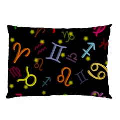 All Floating Zodiac Signs Pillow Cases (Two Sides)