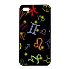 All Floating Zodiac Signs Apple iPhone 4/4s Seamless Case (Black)