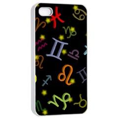 All Floating Zodiac Signs Apple iPhone 4/4s Seamless Case (White)