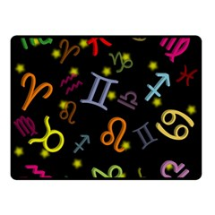 All Floating Zodiac Signs Double Sided Fleece Blanket (Small)