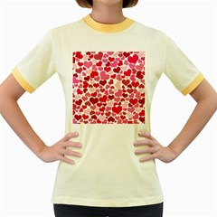 Heart 2014 0934 Women s Fitted Ringer T Shirts