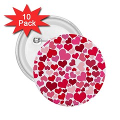 Heart 2014 0934 2 25  Buttons (10 Pack)