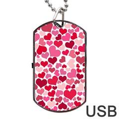 Heart 2014 0934 Dog Tag USB Flash (One Side)