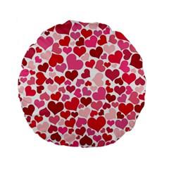 Heart 2014 0934 Standard 15  Premium Flano Round Cushions