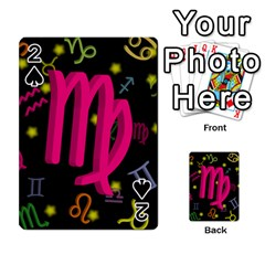 Virgo Floating Zodiac Sign Playing Cards 54 Designs