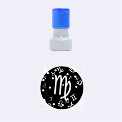 Virgo Floating Zodiac Sign Rubber Round Stamps (Small)