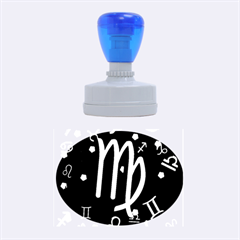 Virgo Floating Zodiac Sign Rubber Oval Stamps
