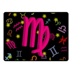 Virgo Floating Zodiac Sign Double Sided Fleece Blanket (Small)