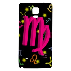 Virgo Floating Zodiac Sign Galaxy Note 4 Back Case