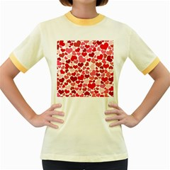 Heart 2014 0935 Women s Fitted Ringer T Shirts