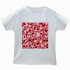 Heart 2014 0935 Kids White T-Shirts