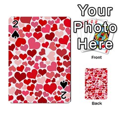 Heart 2014 0935 Playing Cards 54 Designs