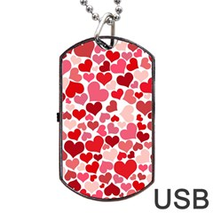 Heart 2014 0935 Dog Tag USB Flash (One Side)