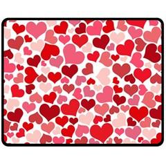 Heart 2014 0935 Double Sided Fleece Blanket (Medium)