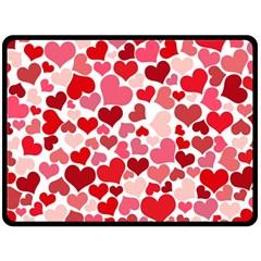 Heart 2014 0935 Double Sided Fleece Blanket (Large)