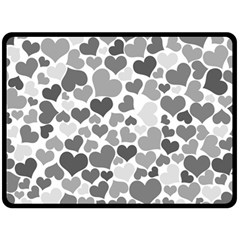 Heart 2014 0936 Double Sided Fleece Blanket (large)