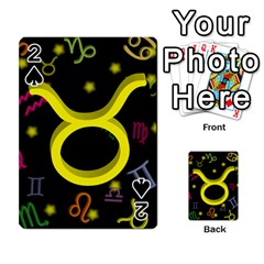 Taurus Floating Zodiac Sign Playing Cards 54 Designs