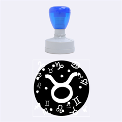 Taurus Floating Zodiac Sign Rubber Round Stamps (medium)