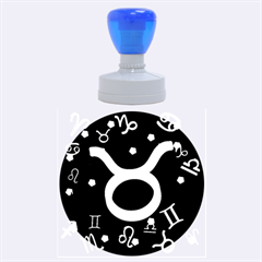Taurus Floating Zodiac Sign Rubber Round Stamps (large)