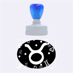 Taurus Floating Zodiac Sign Rubber Oval Stamps