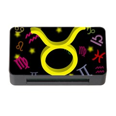 Taurus Floating Zodiac Sign Memory Card Reader with CF