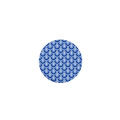 Awesome Retro Pattern Blue 1  Mini Buttons