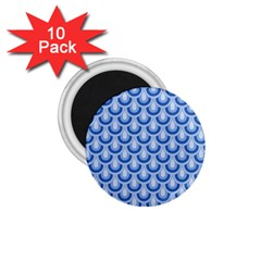 Awesome Retro Pattern Blue 1 75  Magnets (10 Pack)