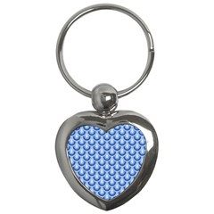Awesome Retro Pattern Blue Key Chains (heart)