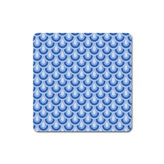 Awesome Retro Pattern Blue Square Magnet