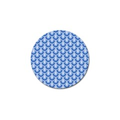 Awesome Retro Pattern Blue Golf Ball Marker (4 Pack)