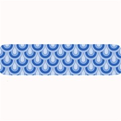 Awesome Retro Pattern Blue Large Bar Mats